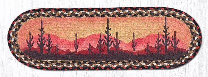 "Desert Sunset Oval Braided Stair Tread 27""x8.25"""