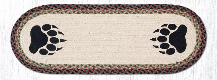 """Bear Paw Oval Braided Table Runner 13""""x36"""""""