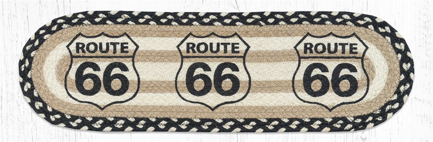 """Route 66 Oval Braided Stair Tread 27""""x8.25"""""""