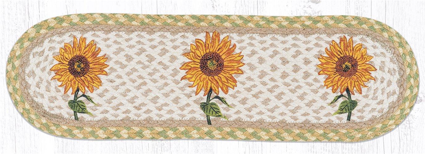 "Sunflower Oval Braided Stair Tread 27""x8.25"""