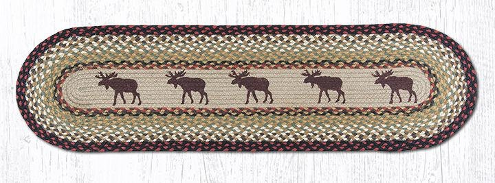 "Moose Oval Braided Runner 13""x48"""