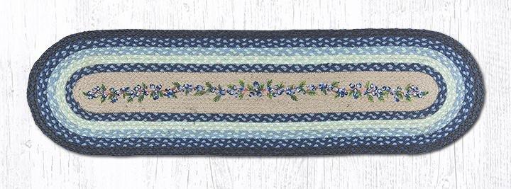 """Blueberry Vine Oval Braided Runner 13""""x48"""""""