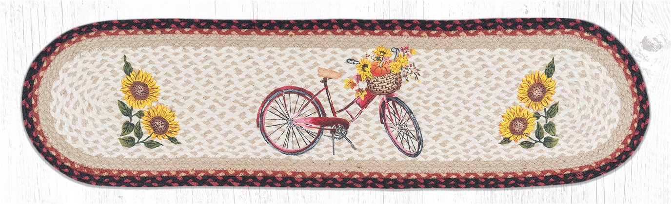 """Red Bicycle Oval Braided Runner 13""""x48"""""""