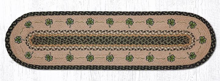"Shamrock Oval Braided Runner 13""x48"""