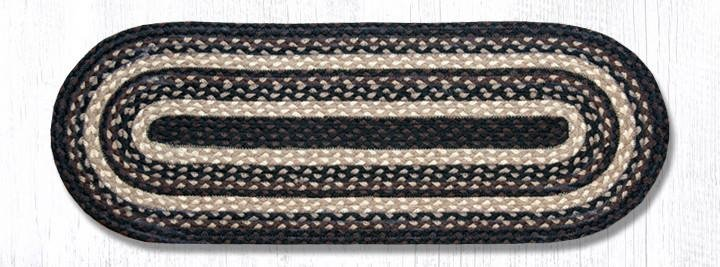"Mocha/Frappuccino Jute Braided Table Runner 13""x36"""
