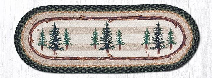 "Tall Timbers Oval Braided Table Runner 13""x36"""