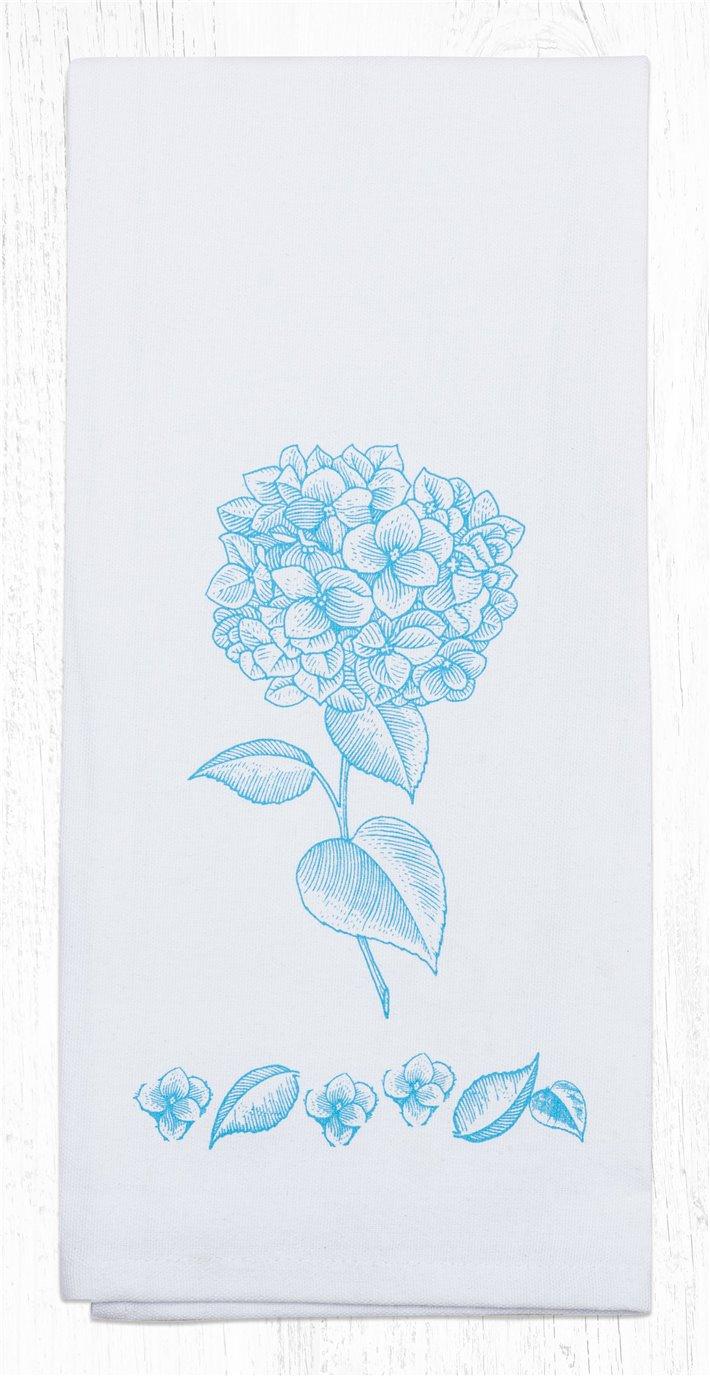 "Hydrangea Cotton Tea Towels 20""x28"""