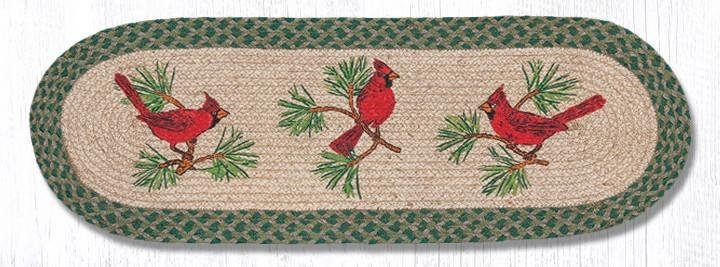 """Cardinals Oval Braided Table Runner 13""""x36"""""""