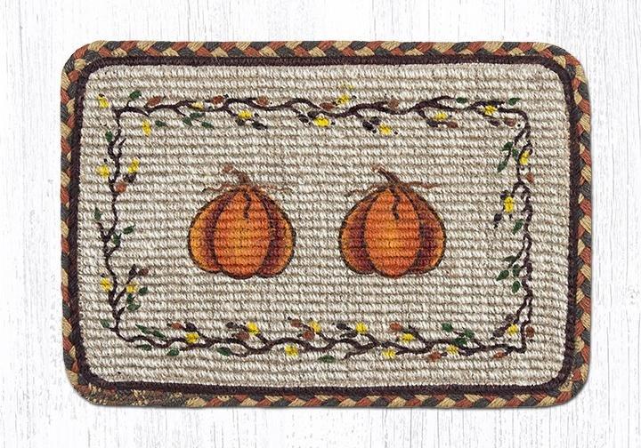 "Harvest Pumpkin Wicker Weave Braided Table Runner 13""x36"""