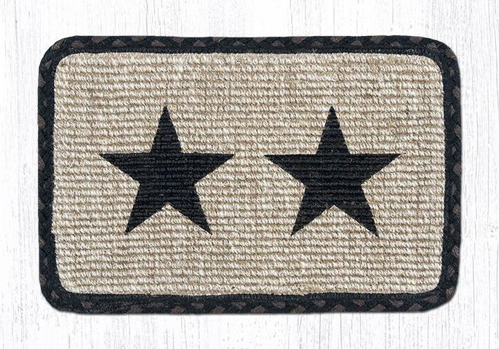 "Black Star Wicker Weave Braided Table Runner 13""x36"""