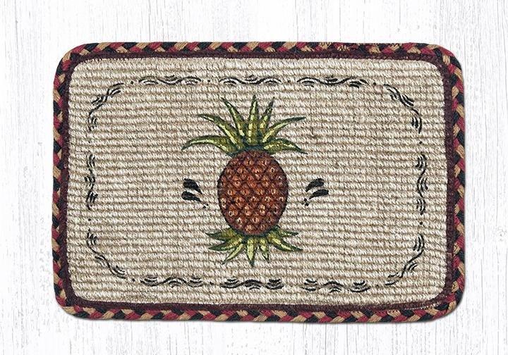 "Pineapple Wicker Weave Braided Table Runner 13""x36"""