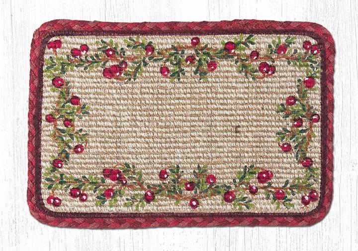 "Cranberries Wicker Weave Braided Table Runner 13""x36"""