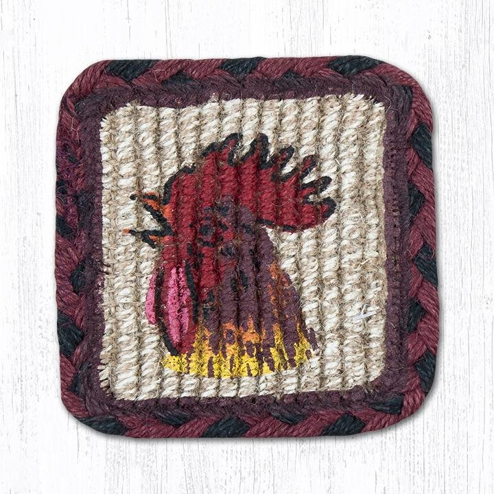 "Morning Rooster Wicker Weave Braided Table Runner 13""x36"""