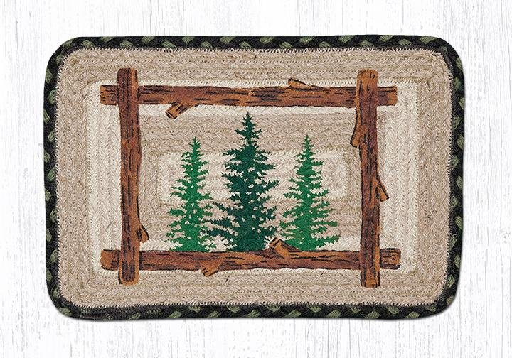 "Tall Timbers Square Printed Braided Trivet 10""x10"""