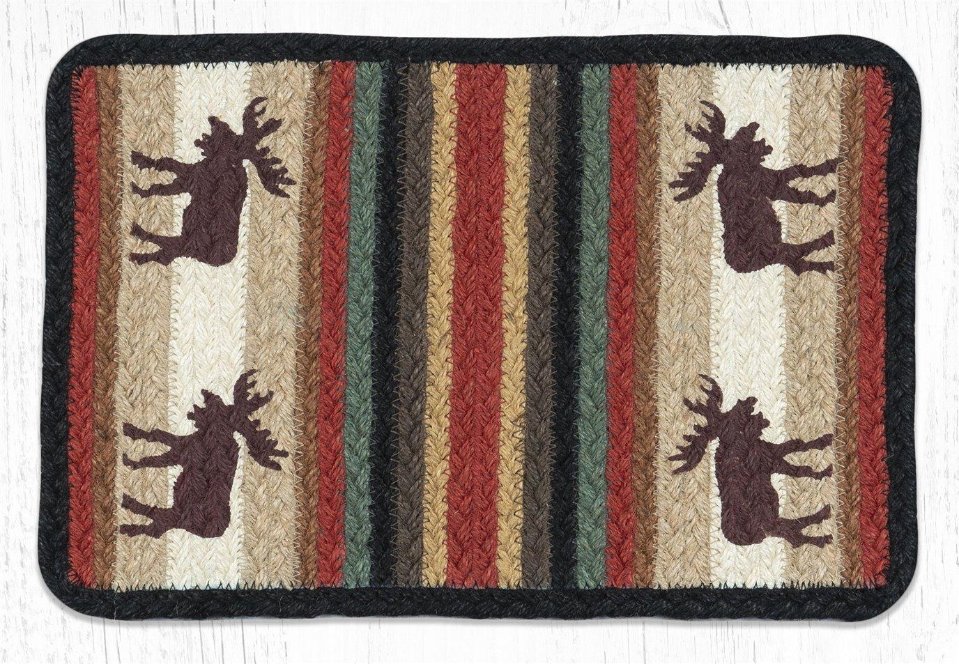 """Moose Rectangular Printed Braided Swatch 10""""x15"""""""