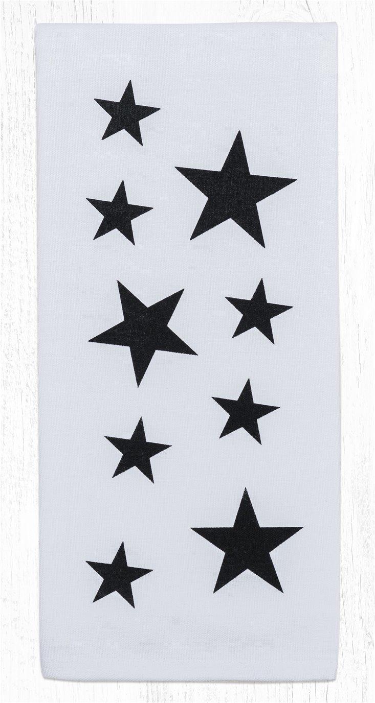 "Black Star Cotton Tea Towels 20""x28"""