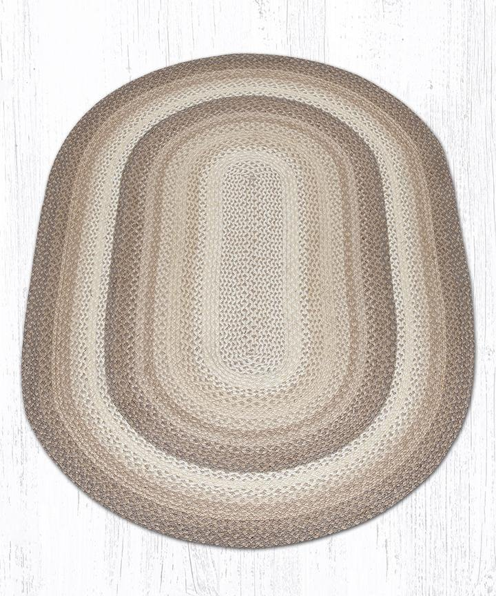 Natural Oval Braided Rug 4'x6'