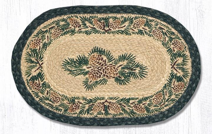 """Pinecone Printed Oval Braided Swatch 10""""x15"""""""