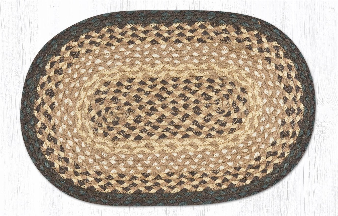 """Chocolate/Natural Oval Braided Swatch 10""""x15"""""""