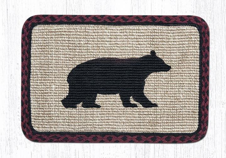 """Cabin Bear Wicker Weave Braided Trivet 9""""x9"""""""