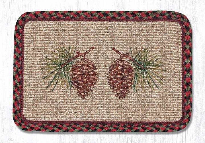 "Pinecone Wicker Weave Braided Trivet 9""x9"""