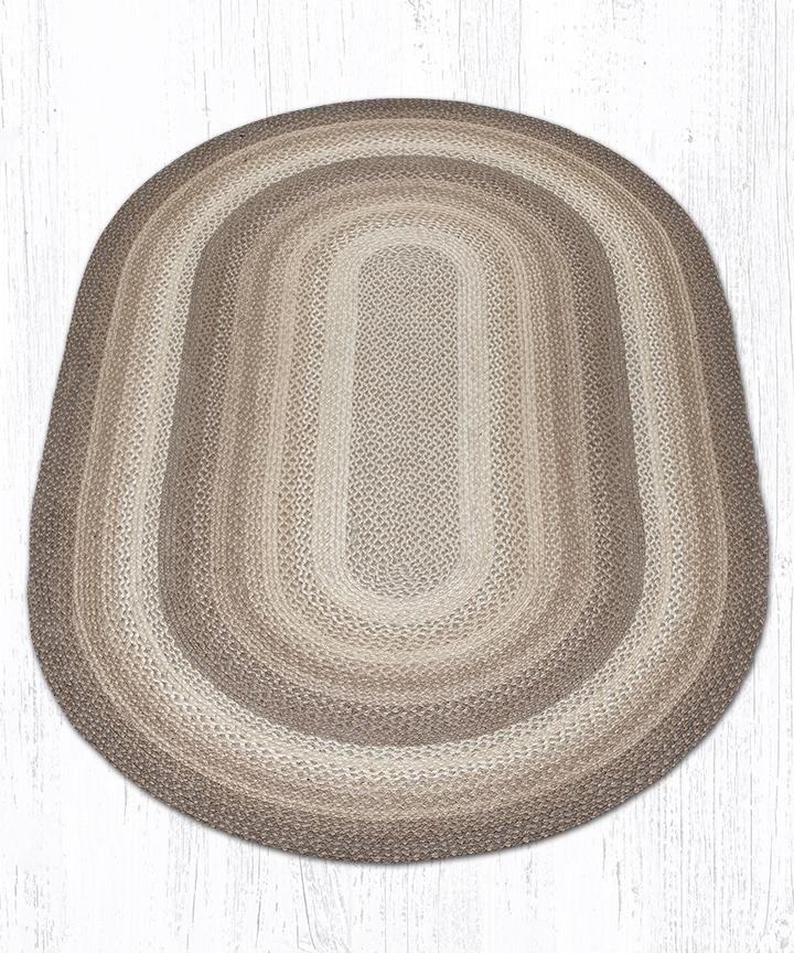 Natural Oval Braided Rug 5'x8'