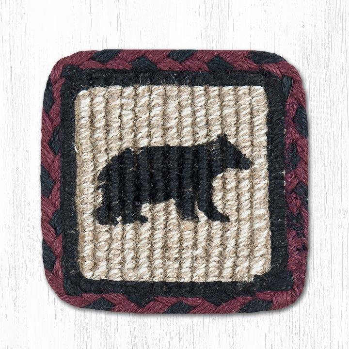 """Cabin Bear Wicker Weave Braided Swatch 10""""x15"""""""