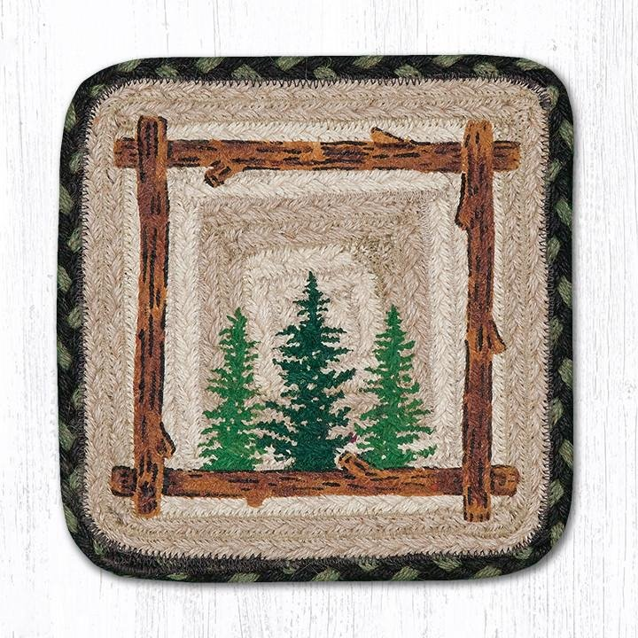 "Tall Timbers Rectangular Printed Braided Swatch 10""x15"""