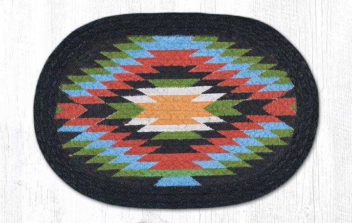 """Native 1 Printed Oval Braided Swatch 10""""x15"""""""