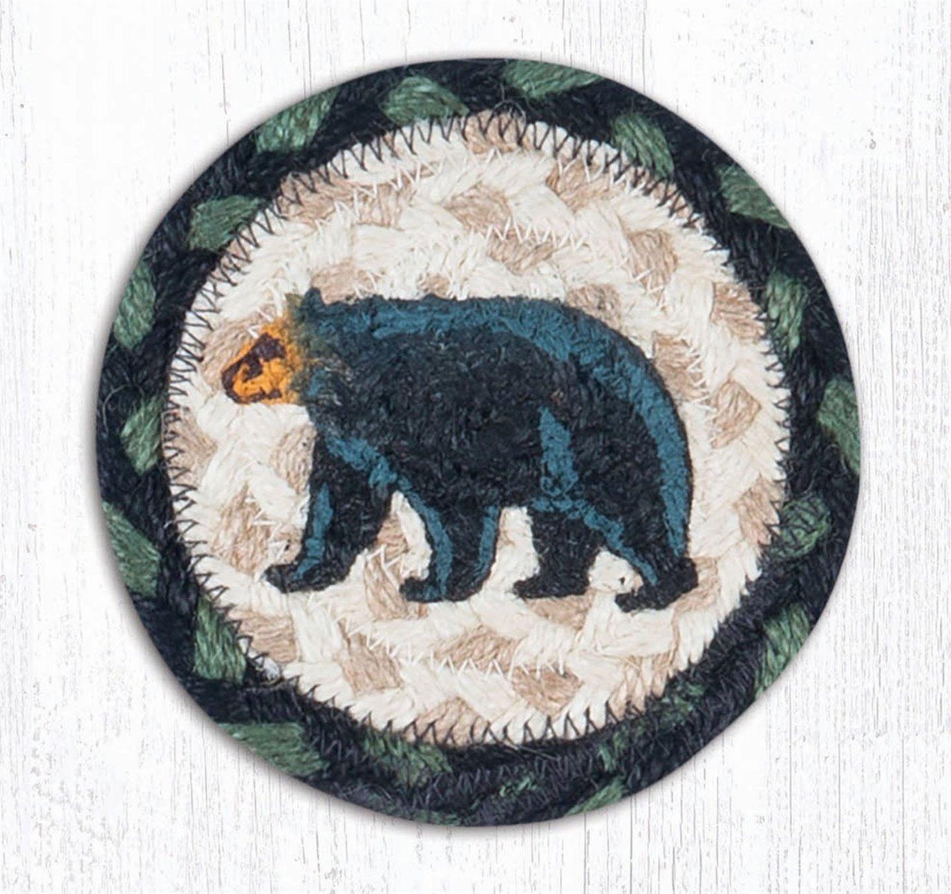 "Mama Bear Printed Braided Coaster 5""x5"" Set of 4"