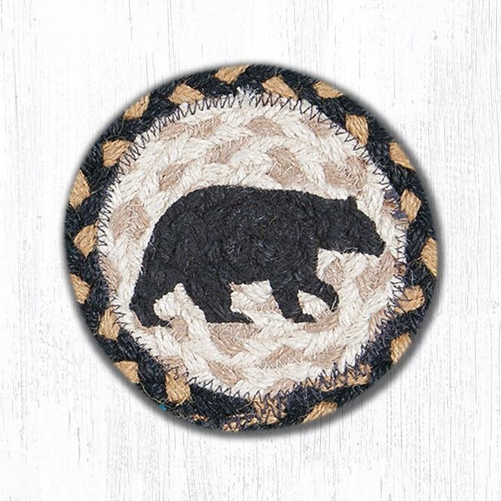 "American Bear Printed Braided Coaster 5""x5"" Set of 4"