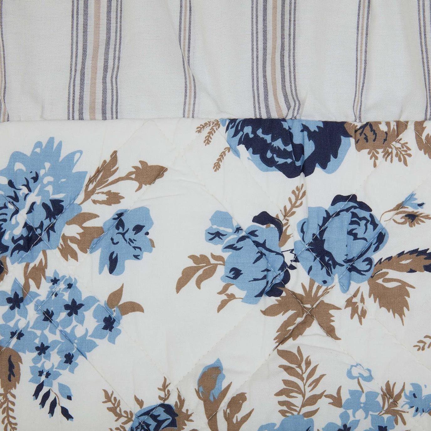 Annie Blue Floral Ruffled Standard Sham 21x27