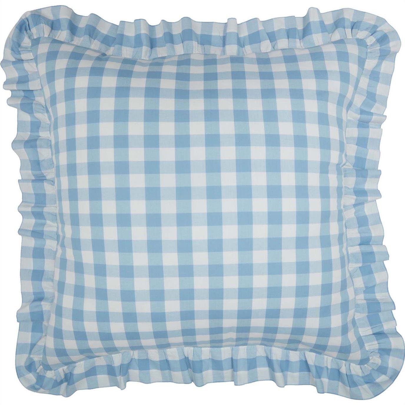 Annie Buffalo Blue Check Fabric Euro Sham 26x26