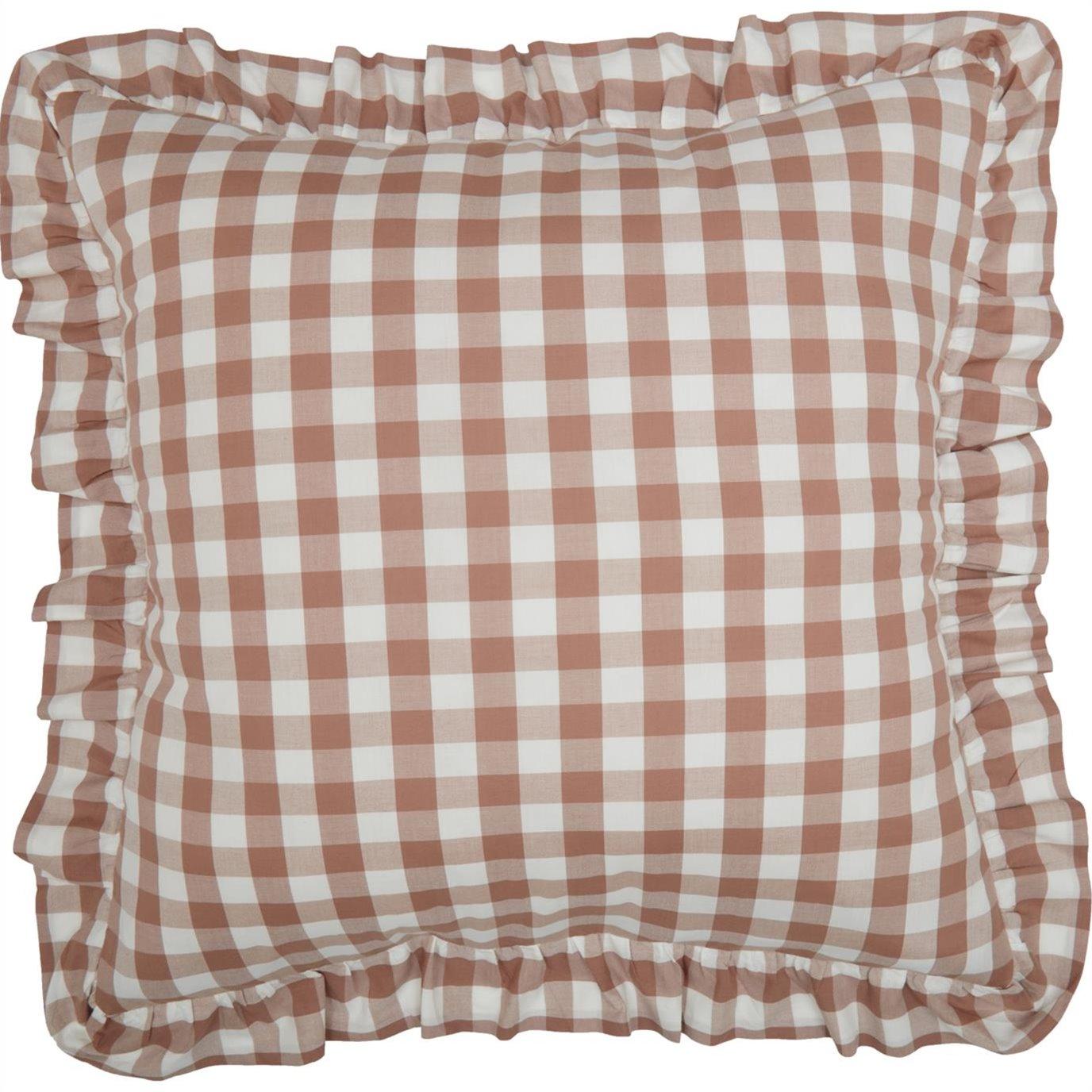 Annie Buffalo Portabella Check Fabric Euro Sham 26x26