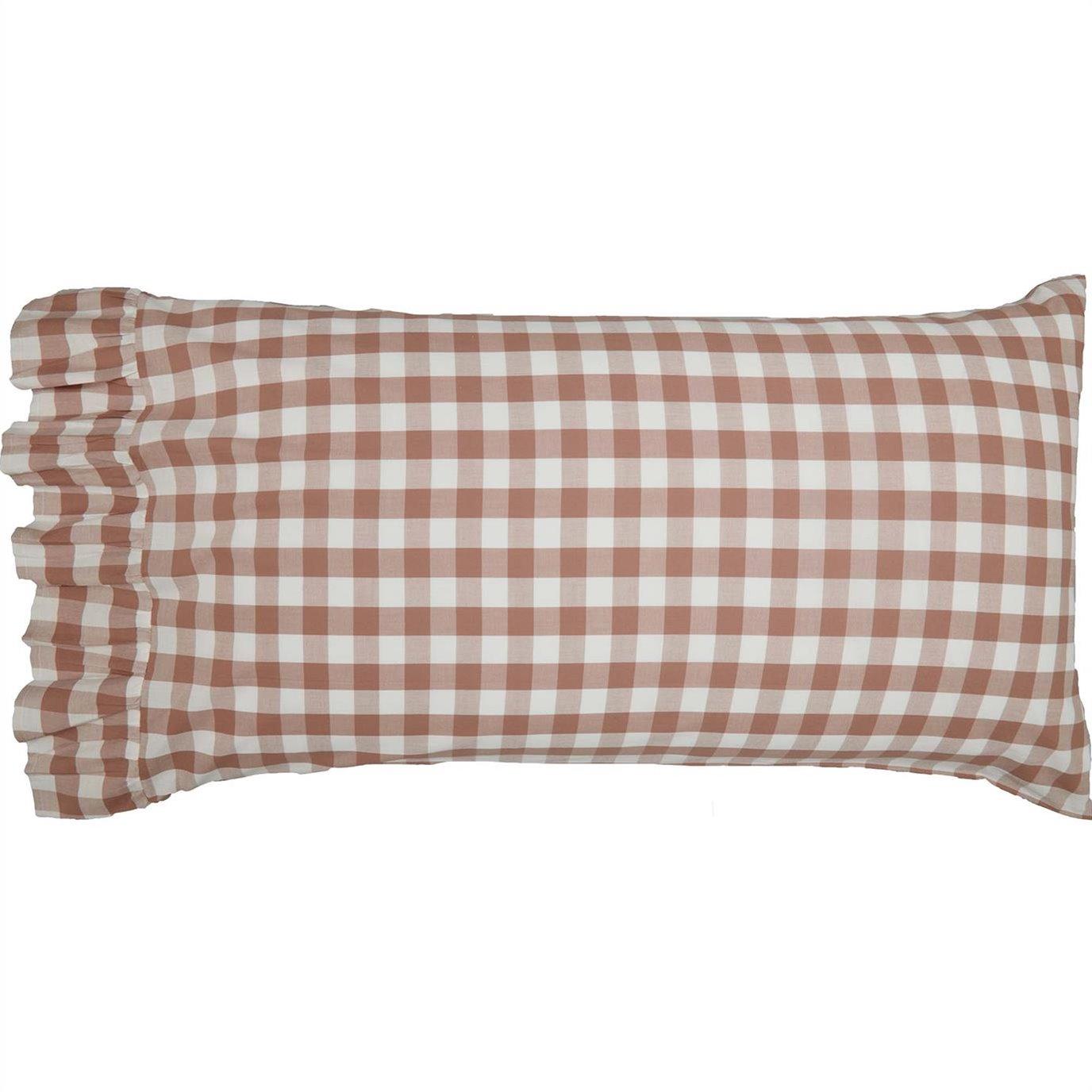 Annie Buffalo Portabella Check King Pillow Case Set of 2 21x36+4