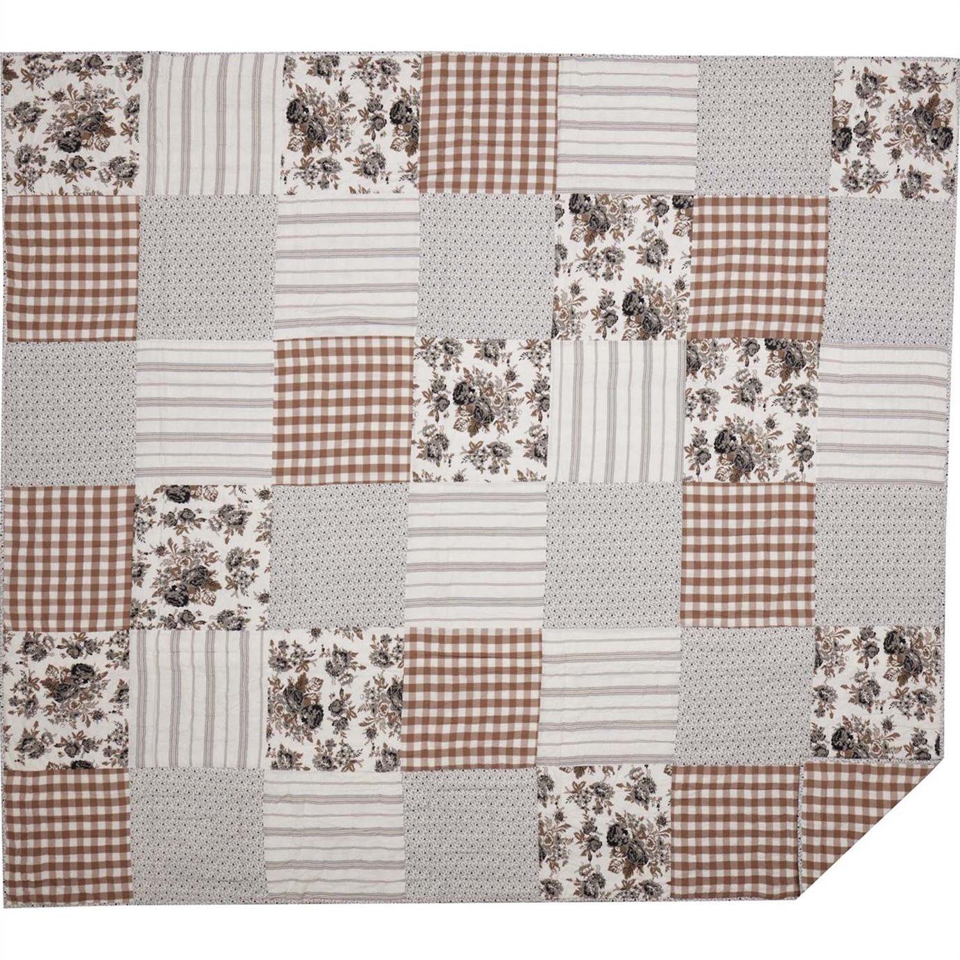 Annie Portabella Floral Patch King Quilt 105Wx95L