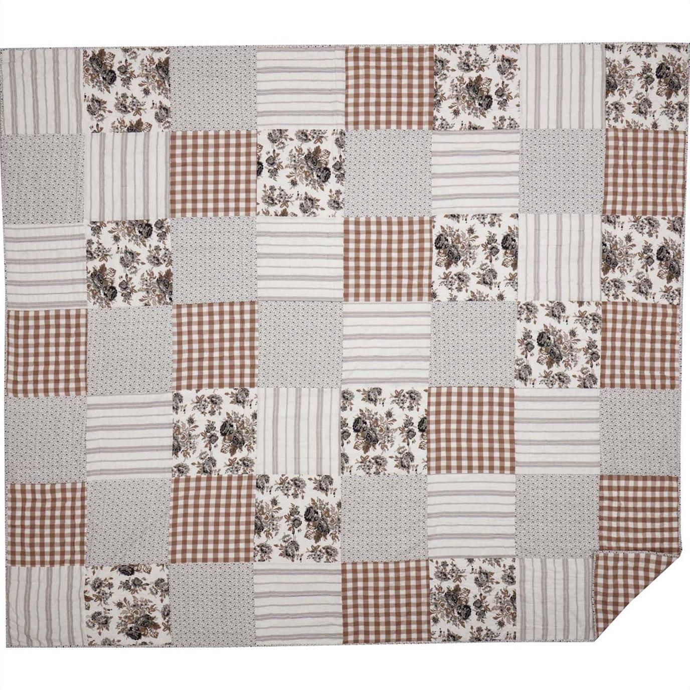 Annie Portabella Floral Patch Luxury King Quilt 120Wx105L