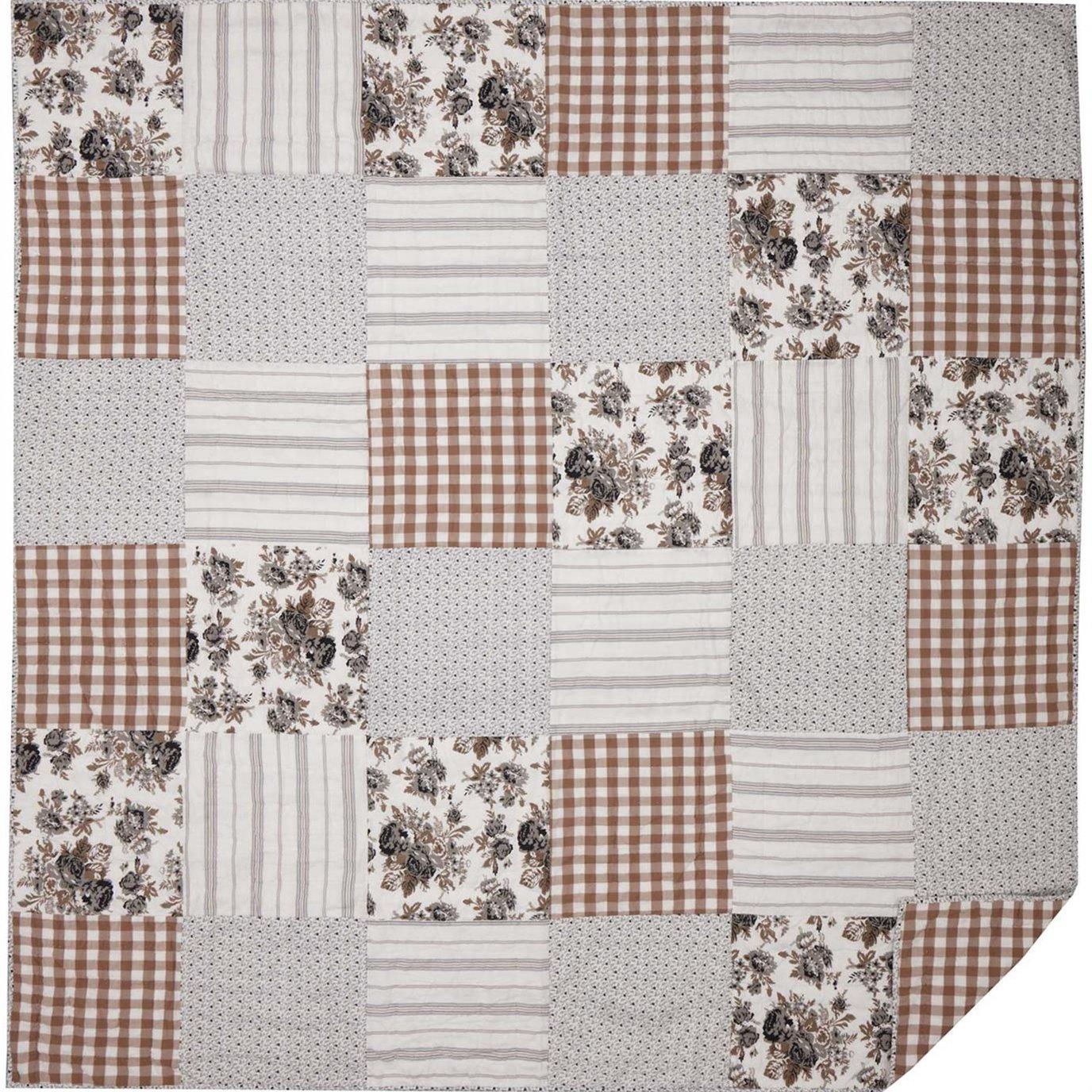 Annie Portabella Floral Patch Queen Quilt 90Wx90L