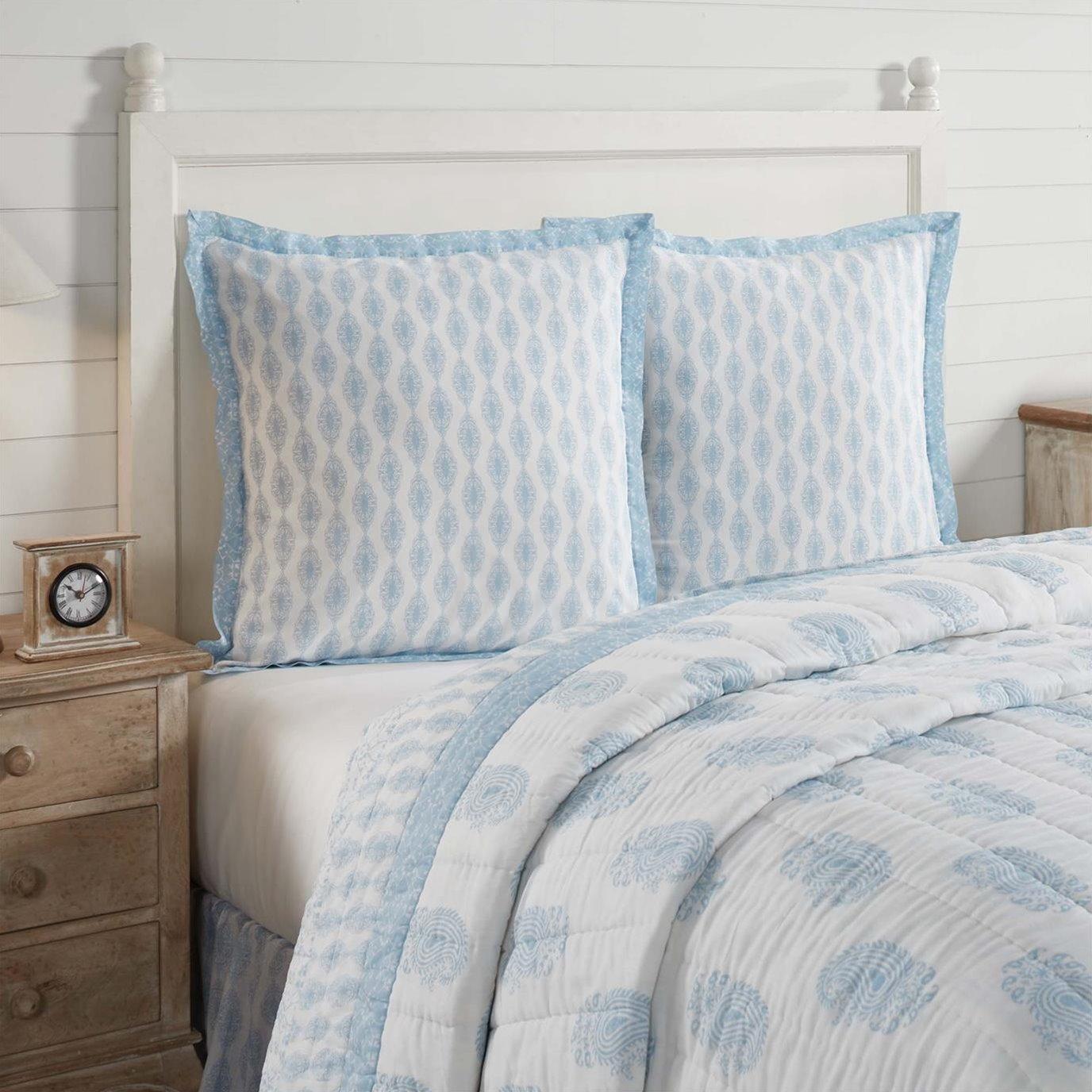 Avani Blue Fabric Euro Sham 26x26
