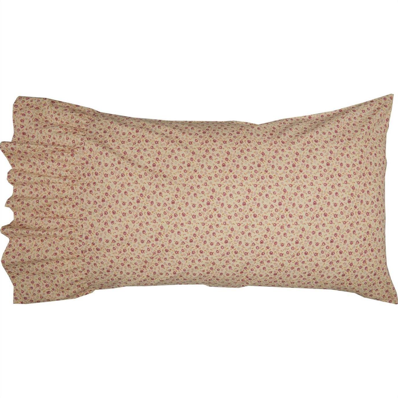 Camilia Ruffled Standard Pillow Case Set of 2 21x26+8
