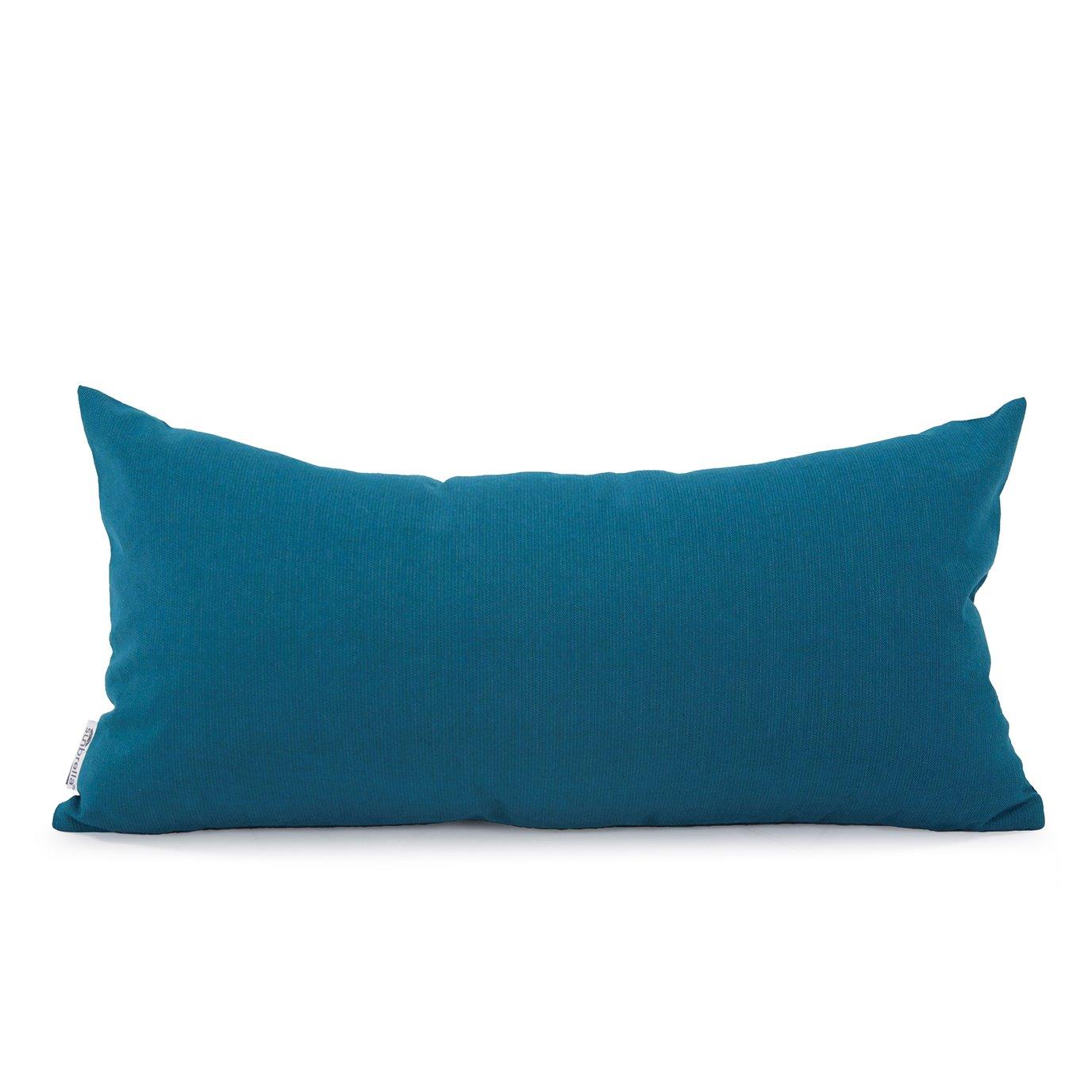 Howard Elliott Kidney Pillow Outdoor Sunbrella Seascape Turquoise