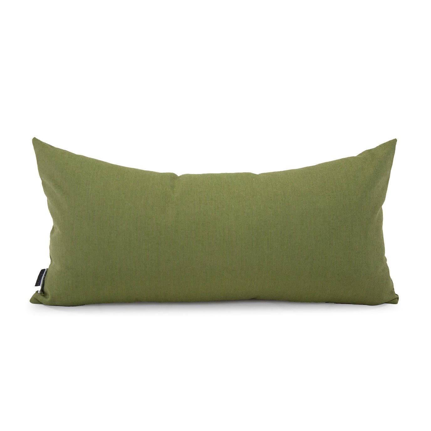Howard Elliott Kidney Pillow Outdoor Sunbrella Seascape Moss