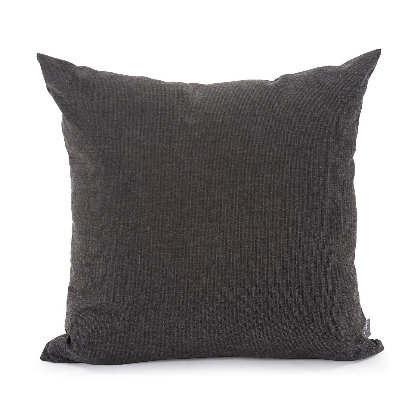 "Howard Elliott 20"" x 20"" Pillow Outdoor Sunbrella Seascape Charcoal"