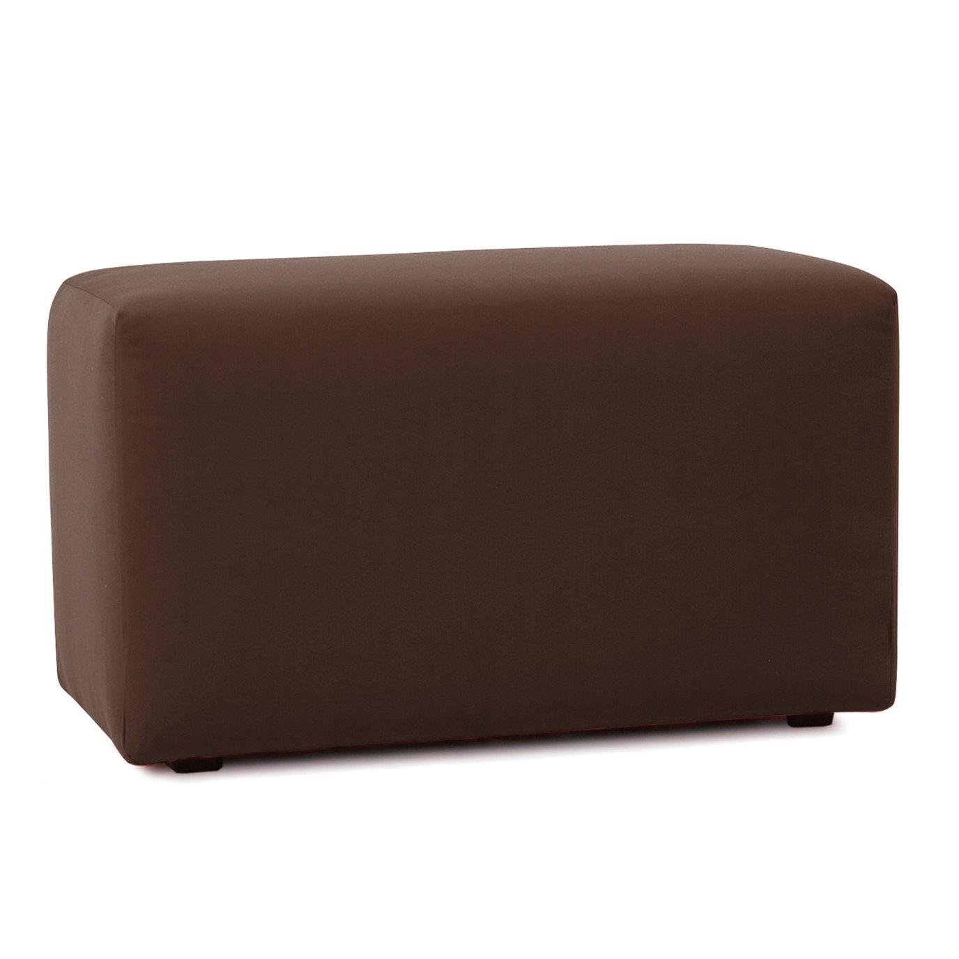 Howard Elliott Universal Bench Outdoor Sunbrella Seascape Chocolate Complete Ottoman