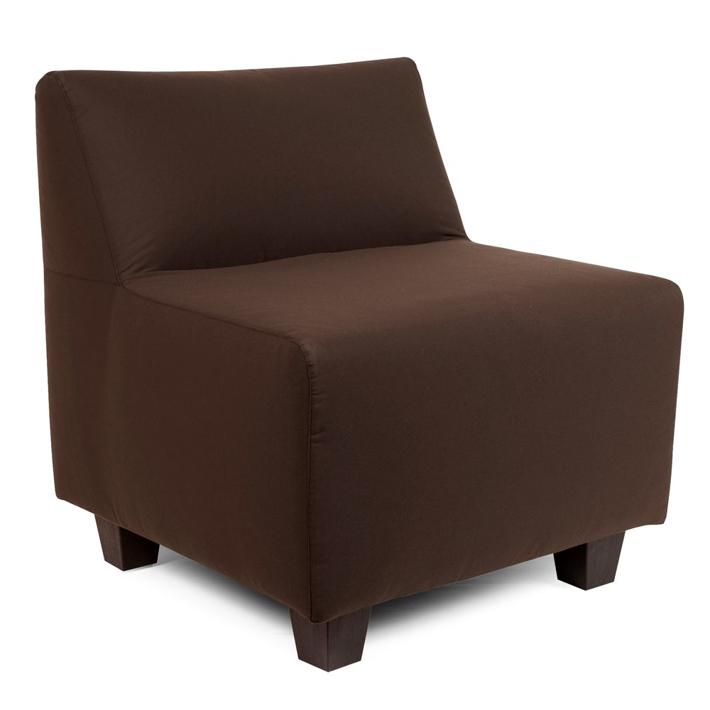 Howard Elliott Pod Chair Outdoor Sunbrella Seascape Chocolate Complete Chair