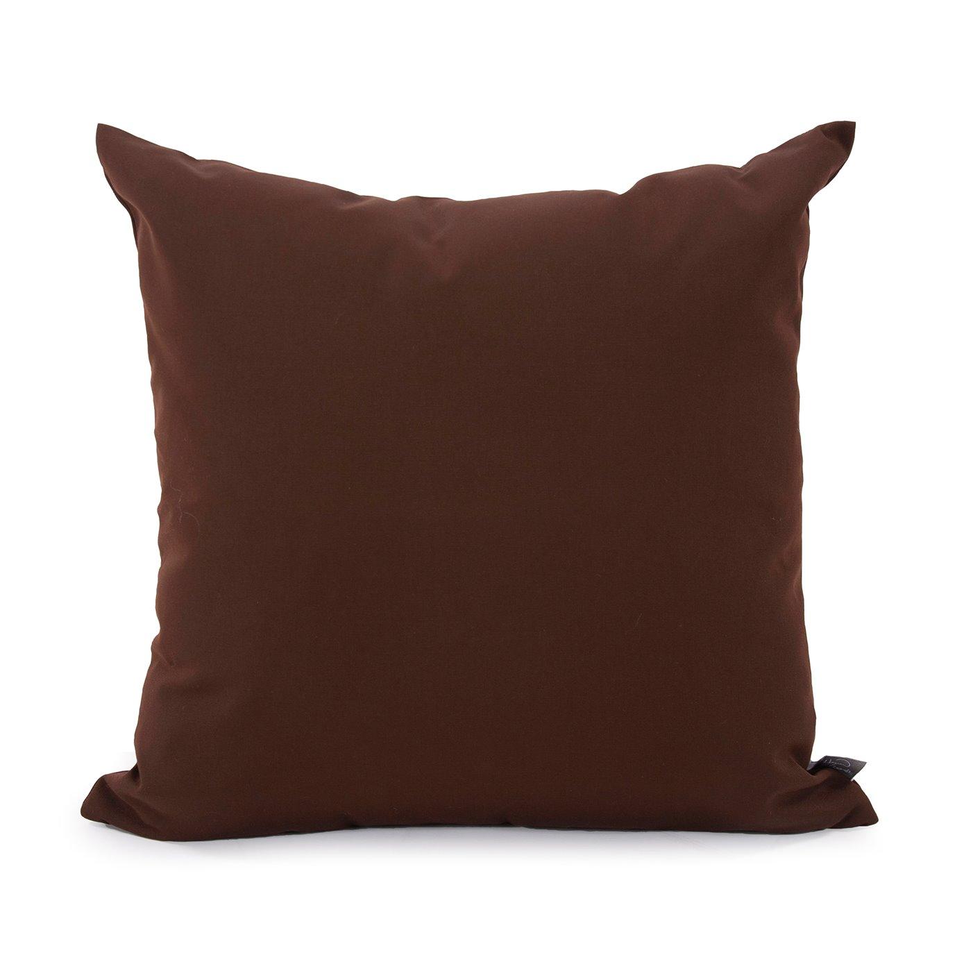 "Howard Elliott 20"" x 20"" Pillow Outdoor Sunbrella Seascape Chocolate"