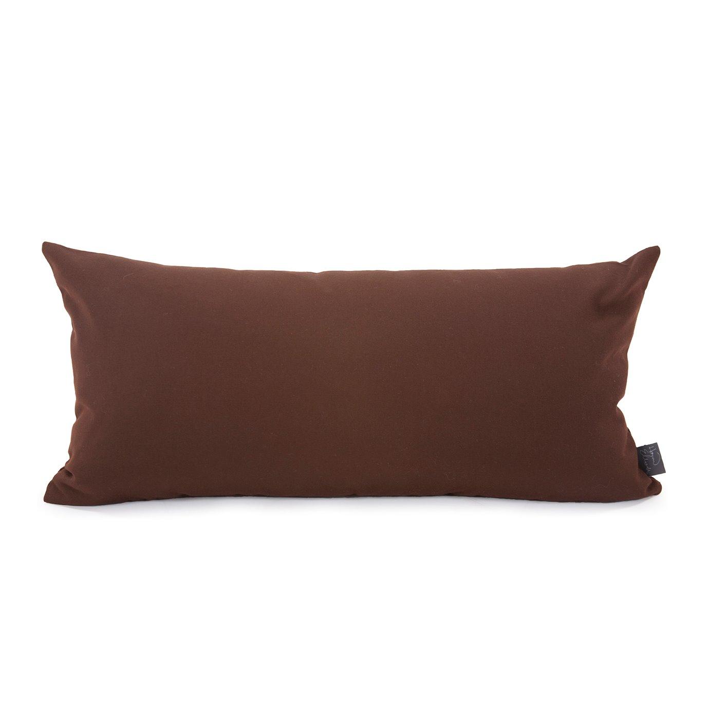 Howard Elliott Kidney Pillow Outdoor Sunbrella Seascape Chocolate