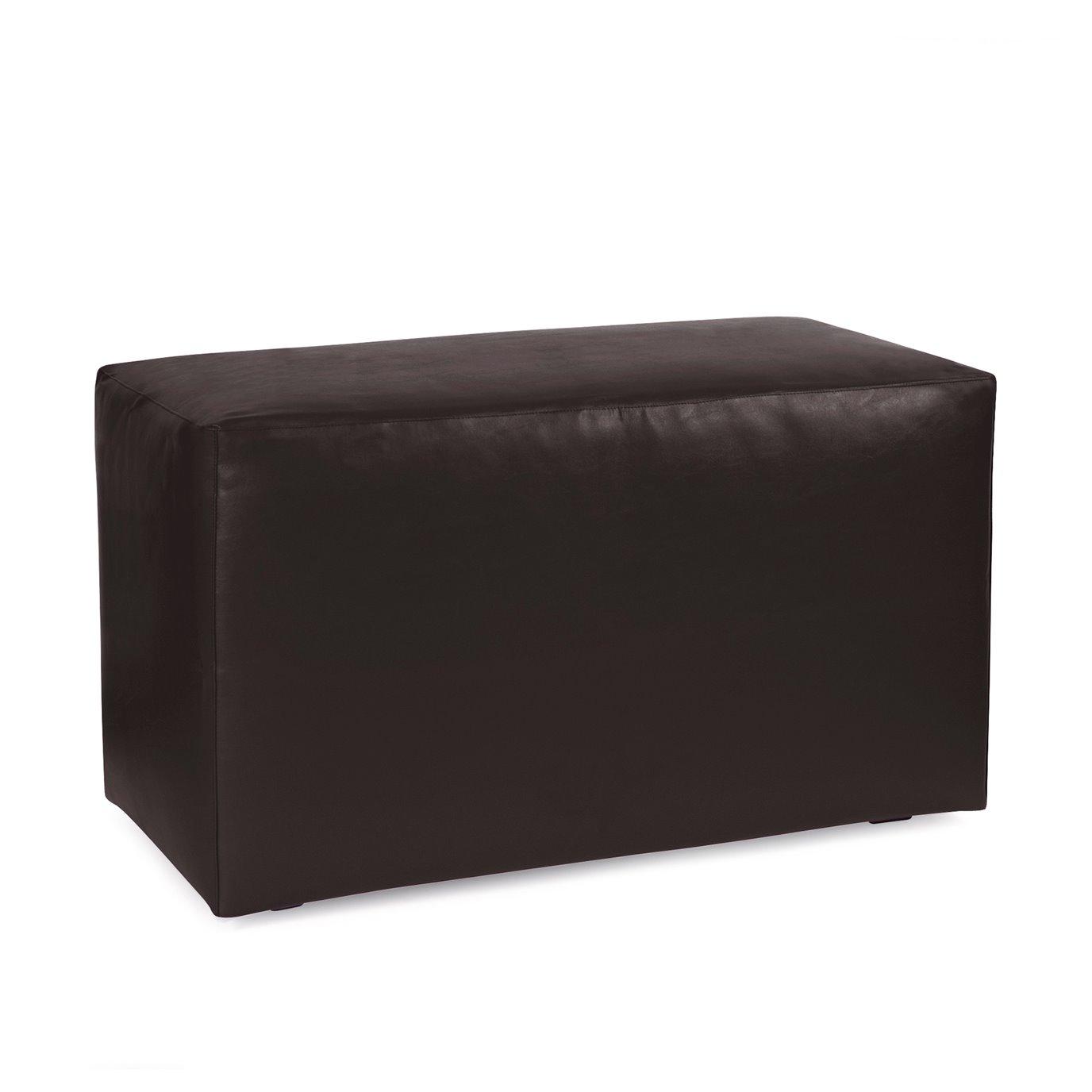 Howard Elliott Universal Bench Outdoor Marine Grade Vinyl Atlantis Black Complete Ottoman