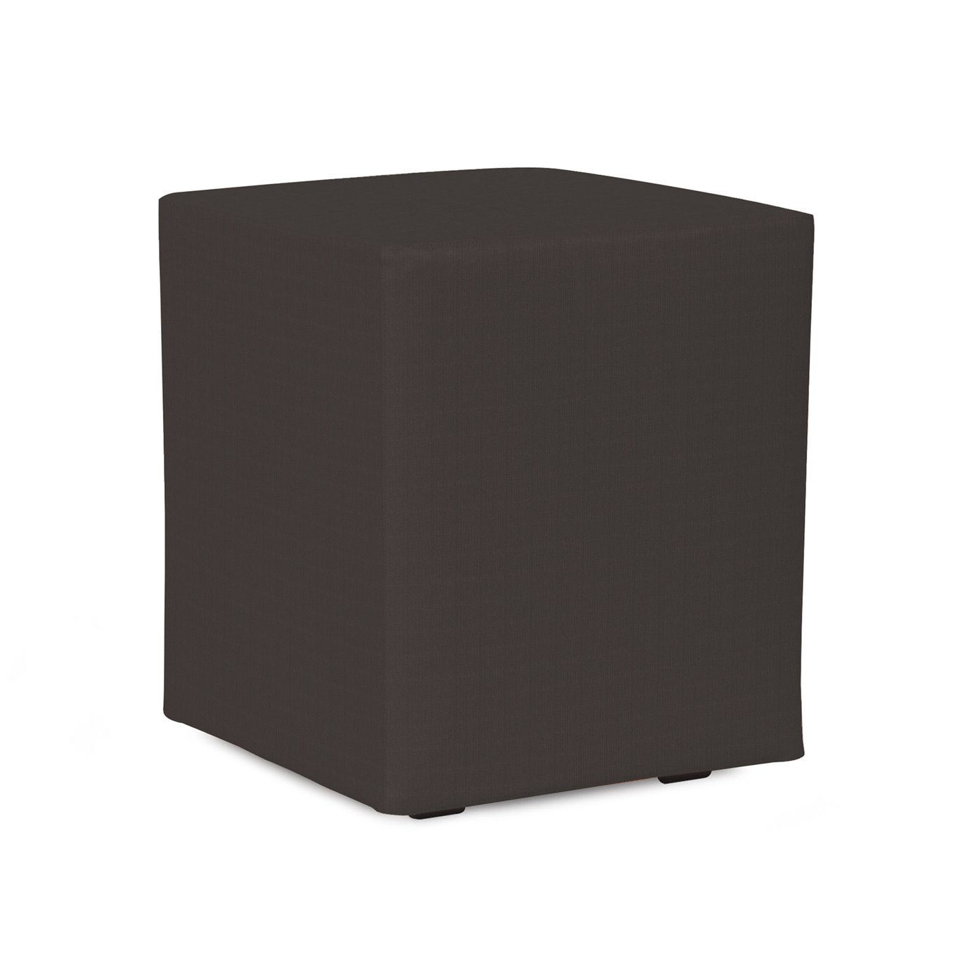 Howard Elliott Universal Cube Cover Sunbrella Outdoor Seascape Charcoal - Cover Only, Base Not Included