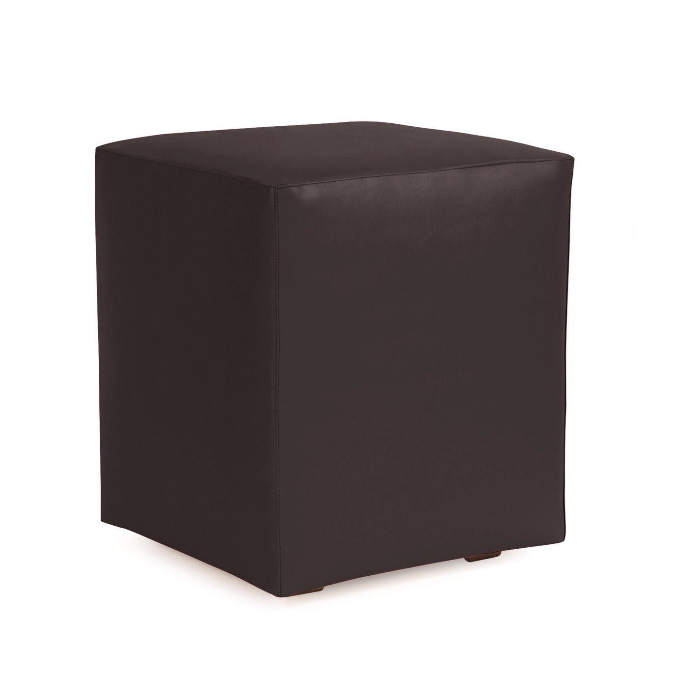 Howard Elliott Universal Cube Outdoor Marine Grade Vinyl Atlantis Black Complete Ottoman